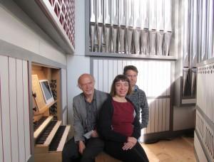 Gerhard, Nathalie und Daniel Grenzing nach der Abnahme